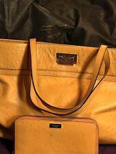 kate spade New York handbag And Wallet Orange Ostrich Kate Spade
