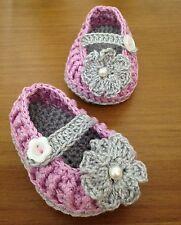 Bailarina Bebe Patucos Alpargatas Zapato Recién Nacido Ganchillo Crochet 0/3