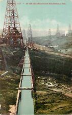 Vintage Mitchell Postcard 643 In the Oil Fields near Bakersfield CA Kern County
