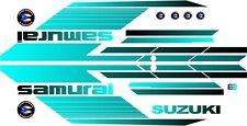 SUZUKI SAMURAI DECALS LINES STICKERS CALCOMANIAS GRAFICAS BLACK AND TURQUOISE