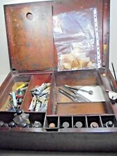 RARE ANTIQUE GEORGIAN MINIATURE PORTRAIT ARTISTS OIL WATERCOLOUR EARLY PAINT BOX