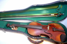 Antique Early 1900s German Violin Fiddle Black Gieb Case Bow Hand Written Song