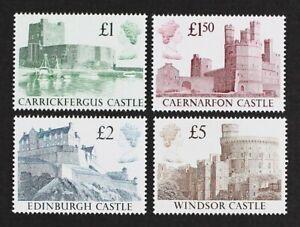 GB GR. BRITAIN 1988 Scott #1230-33 Castles set of 4 stamps Mint NH