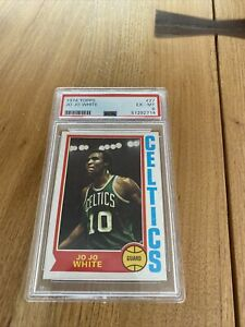 1974 Topps #27 Jo Jo White Celtics Kansas PSA 6