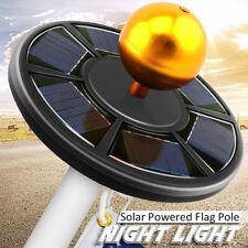 42 LED Solar Powered Black Flag Pole Night Light Powerful Super Bright