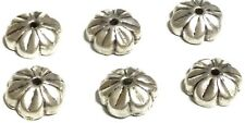 6PCS Sterling Silver Flower Bead Caps- Beading Supplies