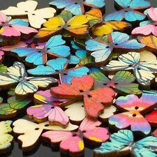 50Pcs Vermischt Masse Schmetterling Phantom Holzern Nähen Knöpfe Scrapbooking