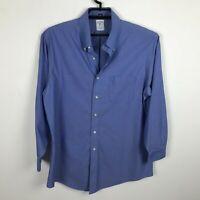 Brooks Brothers Dress Shirt 16 1/2-2/3 1818 Regent Blue Mens Button Front