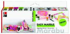 Marabu Marmorierfarbe easy marble Set NEON 5 x 15ml Permanent Marker schwarz neu