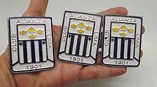 Emblem 3 Badge Plate Club Alianza Lima 1901 Peru Metal Glazed Distinctive Symbol