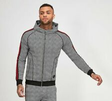 Mens Project X Paris Dogtooth FZ Check Hooded Top RRP £59.99