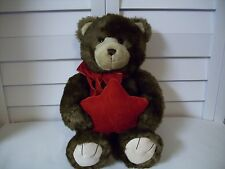 Gund plush musical Bear with red star jewelry pocket pillow