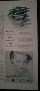 1953 Jacqueline Cochran derma sheen skin moisture cream lotion vintage ad