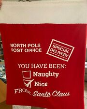 Large North Pole Post Office Special Delivery Santa Presents Bag