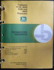 John Deere atelier Manuel 8100 + 8200 + 8300 + 8400 réparation