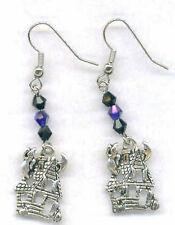 Halloween Earrings - Haunted House - Swarovski Beads