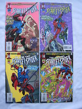 "SPIDERMAN :COMPLETE 4 ISSUE SCARLET SPIDER ""VIRTUAL MORTALITY"" STORY.MARVEL 1995"