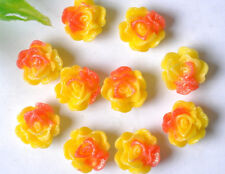 20pcs fashion Resin Flower Flatback Cabochons 11X7MM JK0690