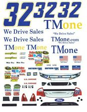 #32 Mike Bliss Tmone Ford 2011 1/32nd Scale Slot Car Waterslide Decals