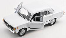 Spedizione LAMPO FIAT 125 P Bianco/White Welly Modello Auto 1:34 NUOVO & OVP