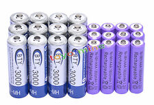 12 AA BTY 3000mAh + 12 AAA 1800mAh NiMH PUR batería recargable RC Reloj MP3