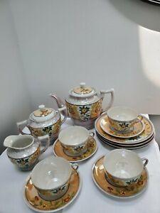 Beautiful Vintage Takito hand painted Lusterware Porcelain Tea Set