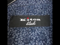 "BRAND NEW KITON ""black"" Dress Shirt 100% Cotton Hand Made in Italy size L"