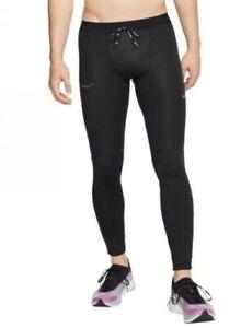 Nike Men's Power Tech Shield  Running Tights  Black BV5848 010 Size M / XL
