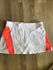 BEBE Sport Tennis Golf Exercise Skirt/Skort CUTE White Orange Combo