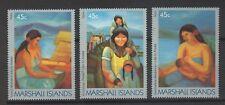 MARSHALL ISLANDS, SCOTT # 213-215, SET OF 3 SINGLES, LINKS TO ALASKA, WOMAN KIDS