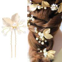 Forcina Golden Leaf forcine spillone fermaglio accessori acconciatura capelli