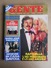 GENTE n°51 1985 Raffaella Carrà Story - Maria Josè di Savoia  [D42]