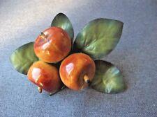 Vintage Carmen Miranda plastic fruits & fabric leaves millinery applique #5