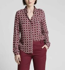 NEW! AUTHENTIC ANNE KANNER URBAN BLOUSE TOP (MAROON, SIZE 36/SMALL)