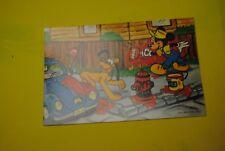 cp carte postale vintage  année 70 walt disney : mickey pluto