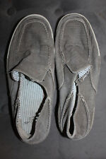 Clarks Men's Gray Slip-On Denim Canvas Casual Shoes Size 8