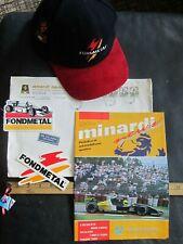 Formula One - Minardi & Fondmetal Factory Hat & Stickers & Two sets of Media She