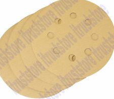 """4 PC 5"""" ROUND HOOK AND LOOP BACKING SANDER SANDING PAD DISC 8 HOLE 220 GRIT FINE"""