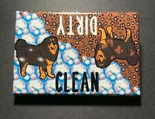 Tibetan Mastiff Dog Dishwasher Magnet Clean Dirty Sign Cleaning Accessories
