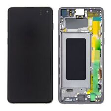 LCD OLED S10+ S10 PLUS G975F ECRAN LCD TACTILE SAMSUNG GALAXY CHASSI NOIR PRISME