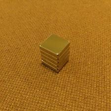 5 N45 Neodymium 1/2 x 1/2 x 1/8 inches Block/Bar Magnet.