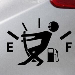 1X Black High Gas Consumption Style Car Auto Body Door DIY Sticker Accessories