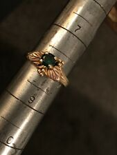 Ladies Black Hills Gold 10k Ring With Stone Size 8
