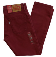 NEW MENS LEVIS PREMIUM 511 SLIM FIT JEANS POMEGRANATE 045112527 ALL SIZES