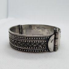 Bracelet rigide en argent jonc éthnique RefM924