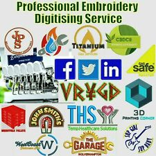 Embroidery Digitising Services, any logo any size, Quick Turn around, UK based