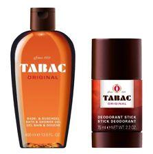 DUO TABAC ORIGINAL BATH & SHOWER GEL 400 ML + DEODORANTE STICK per gli uomini 75 ML