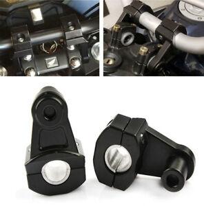 Universal Motorcycle HandleBar Handle Fat Bar Mount Clamp Riser 22/28mm Black