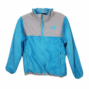 The North Face Osito Denali Jacket Fuzzy Fleece teal blue Large 14 16 Girls Kids