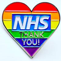 NHS Thank You Rainbow Heart Enamel Pin Badge – National Health Service Heroes